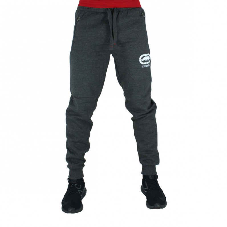 Men's Wraith Charcoal Grey Cotton Jog Pants