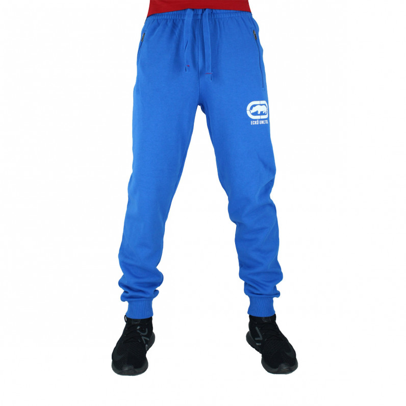 Men's Wraith Blue Cotton Jog Pants