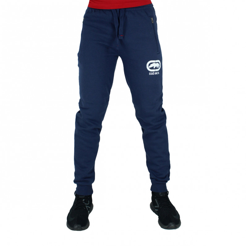 Men's Wraith Navy Cotton Jog Pants