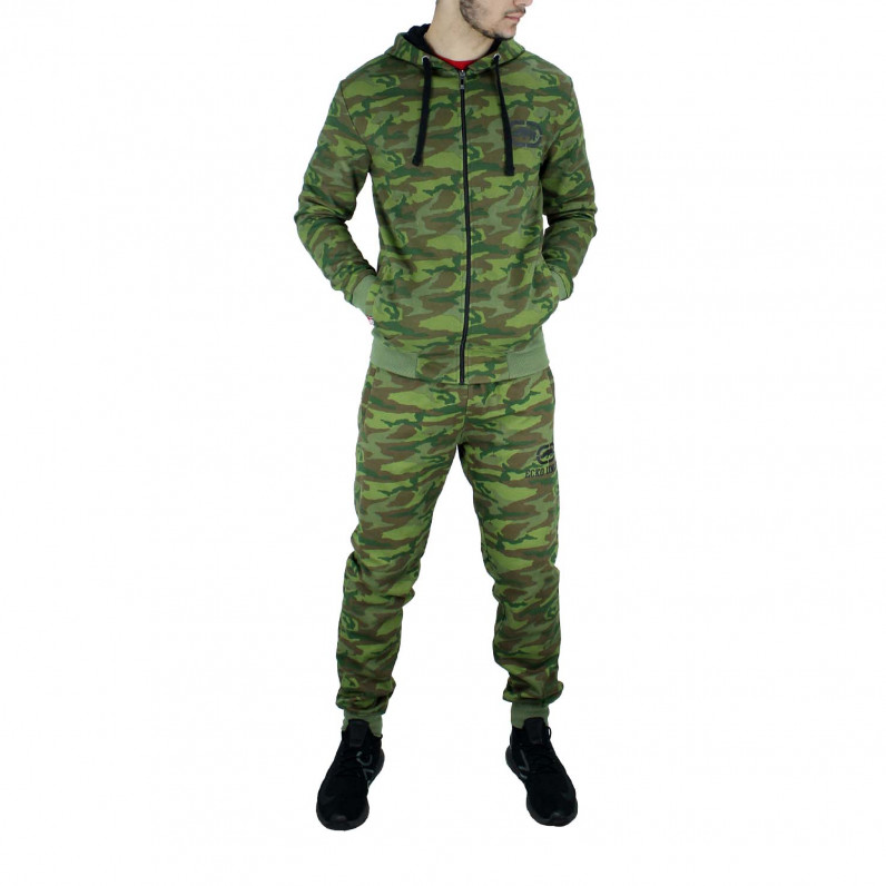 Men's Green Camouflage Cotton Designer Tracksuit