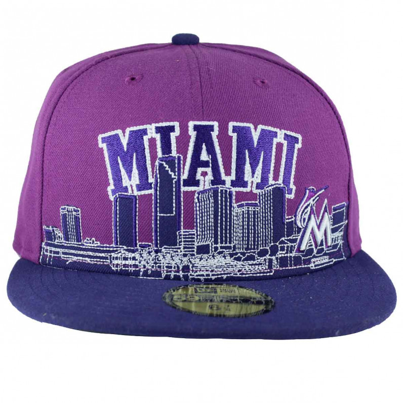 MLB 59Fifty City Line Miami Fitted Baseball Caps