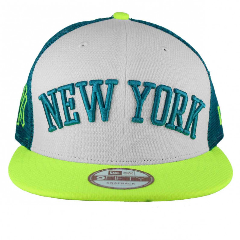 MLB 9Fifty NY New York Yankees Neon Green Snapback Baseball Caps