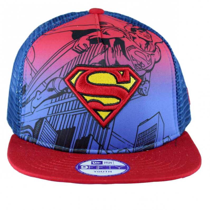 Youth DC Marvel Comics Hero Scene SuperMan 9Fifty Snapback Cap