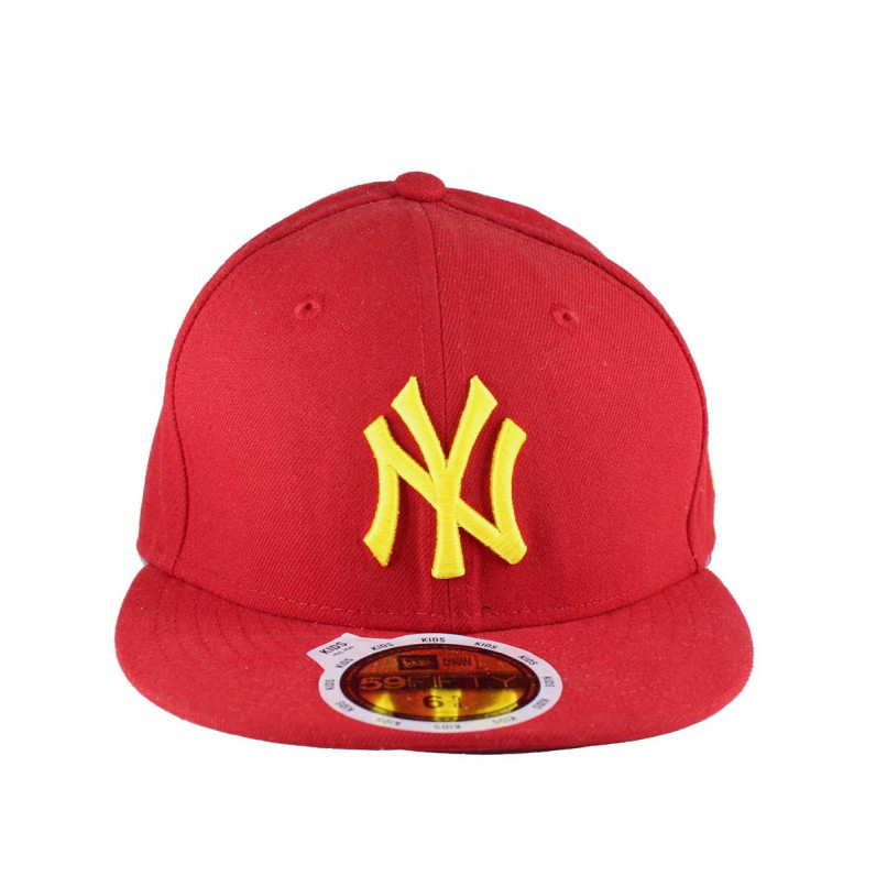 MLB 59Fifty NY New York Yankees Red Fitted Fitted Caps