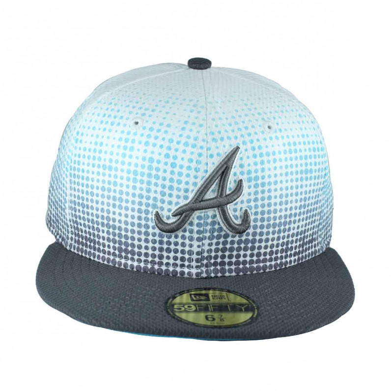 MLB 59Fifty White Blue Atlanta Braves Fitted Baseball Caps