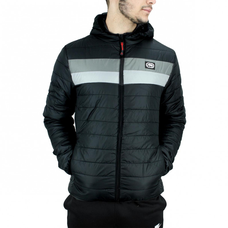 Men's Black Woodgrange Puffer Padded Quilted Hooded Jacket