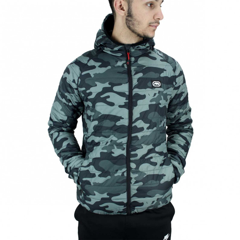 Men's Grey Eastway Puffer Padded Quilted Hooded Jacket