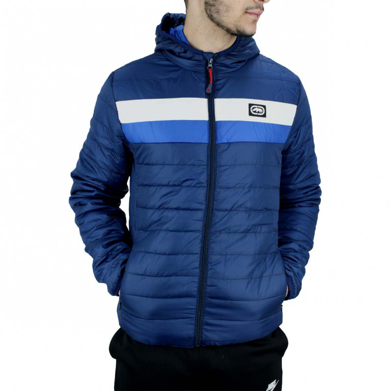Men's Navy Woodgrange Puffer Padded Quilted Hooded Jacket