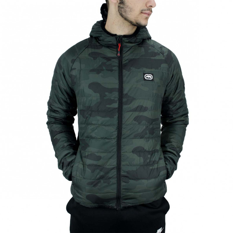 Men's Green Eastway Puffer Padded Quilted Hooded Jacket