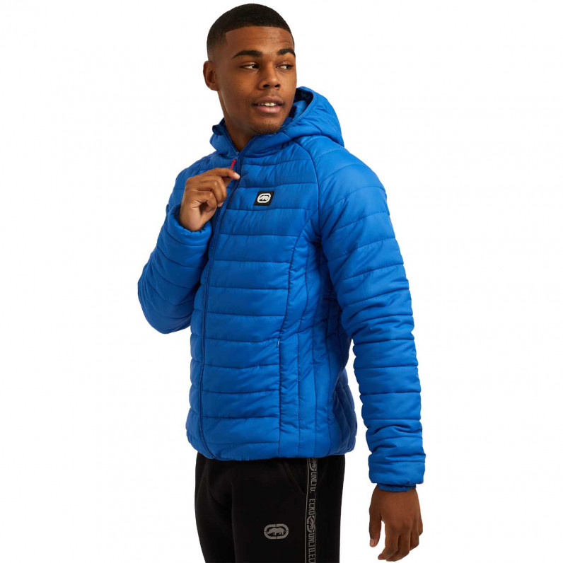 Men's Blue Marshgate Sports Puffer Padded Quilted Hooded Jacket