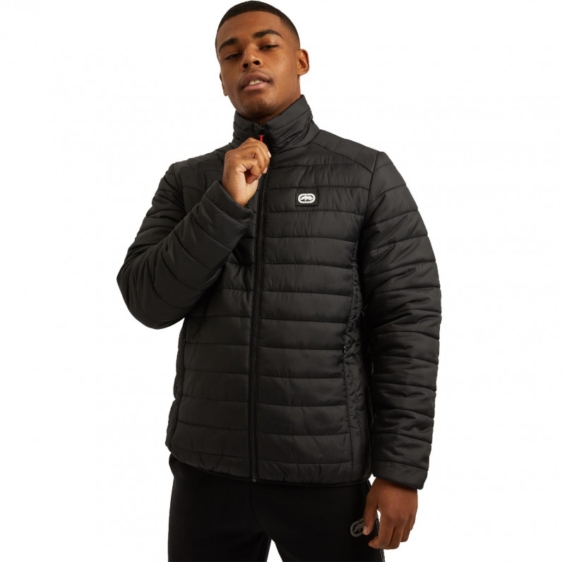 Men's Black Newton Sports Puffer Padded Quilted Jacket