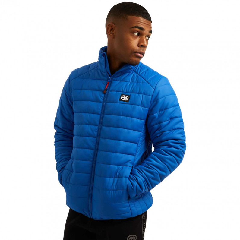 Men's Blue Newton Sports Puffer Padded Quilted Jacket