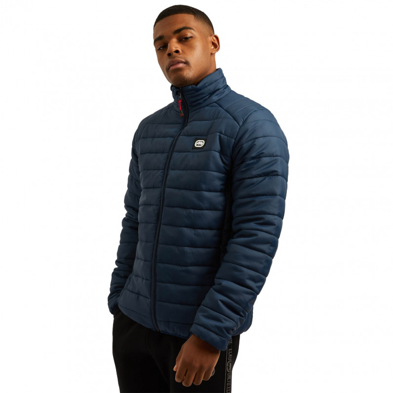 Men's Navy Newton Sports Puffer Padded Quilted Jacket