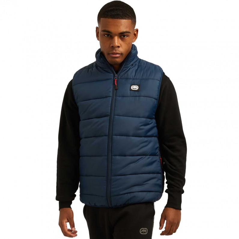 Men's Navy Feller Sports Puffer Padded Gilet Jacket