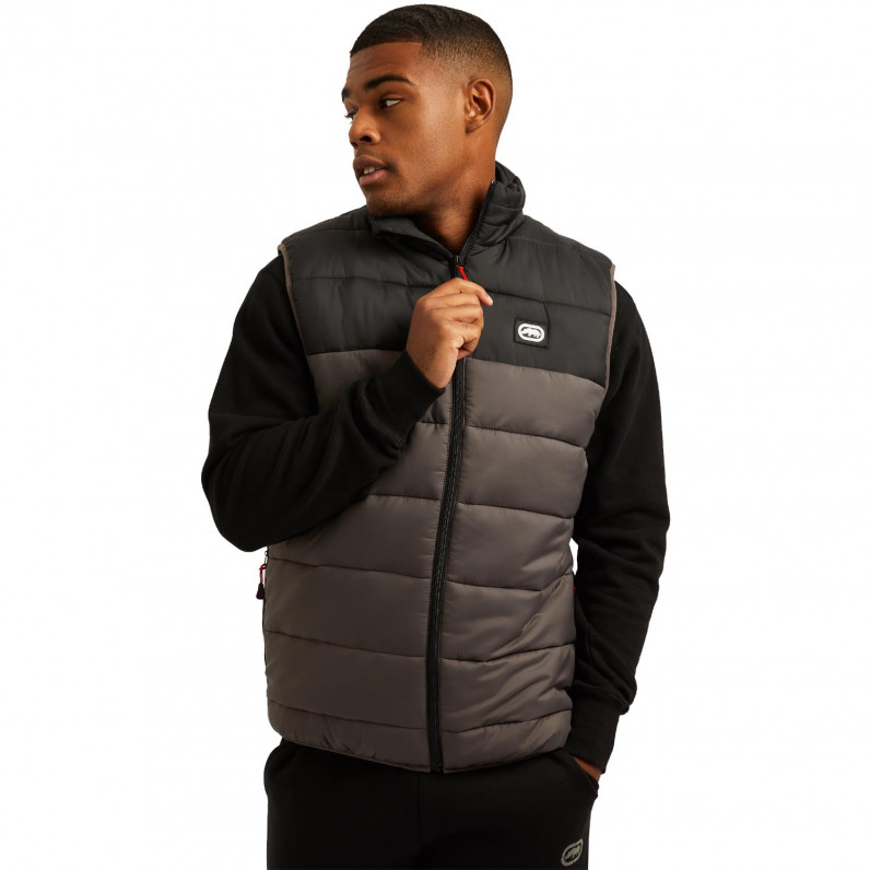 Men's Black Lumber Sports Puffer Padded Gilet Jacket