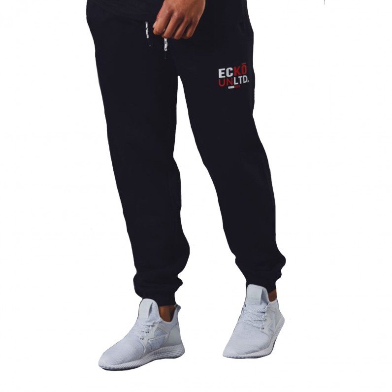 Men's AutoDrome Black Cotton Jog Pants