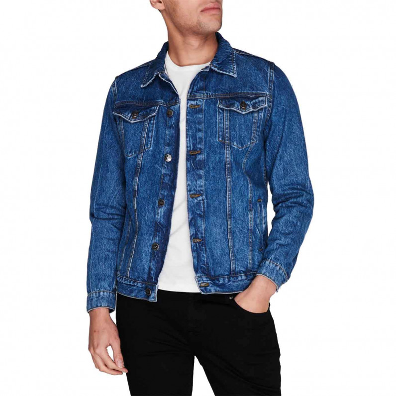 Men's Stonewash Blue Denim Jacket