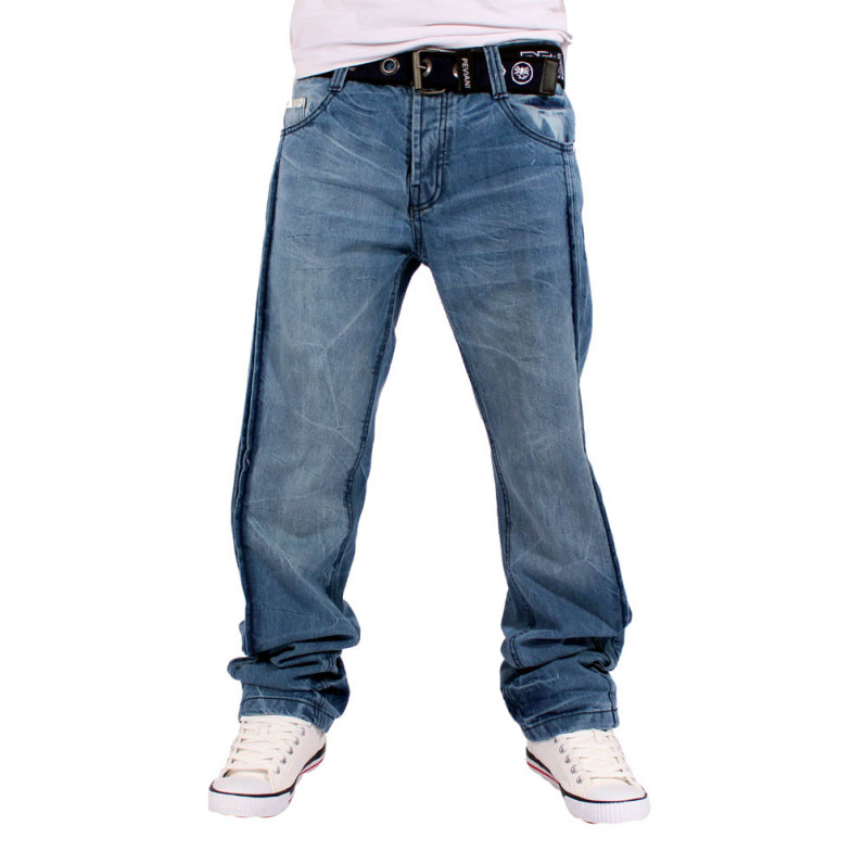 Men's Urban Triple Star Stonewash Blue Denim Jeans