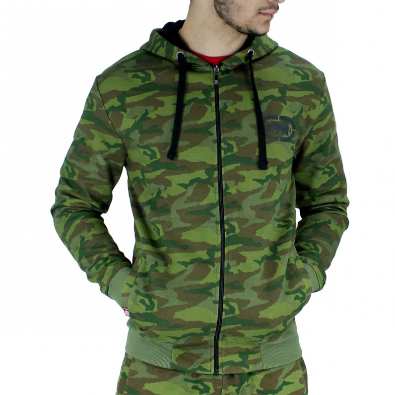 Men's Camouflage Green Urus Zip Up Hoodie