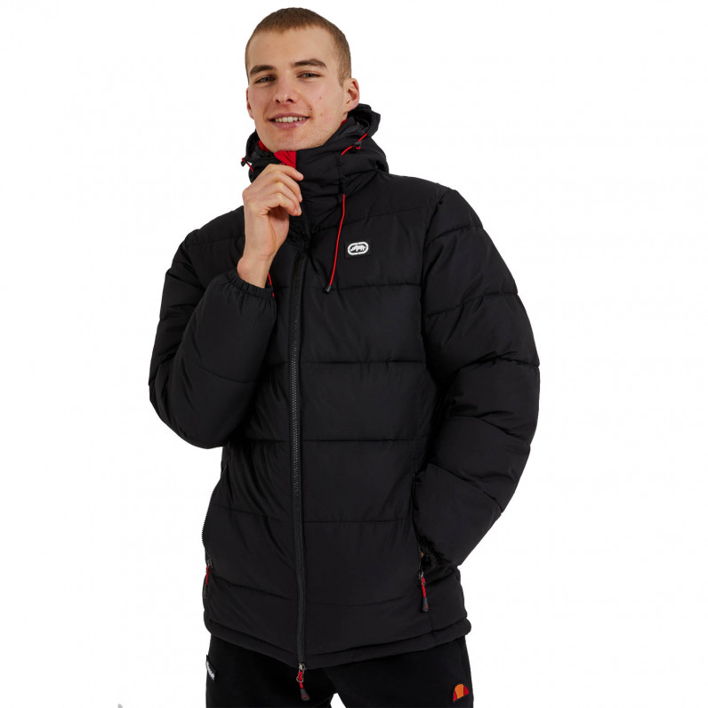 Men's Black Grenadier Padded Hooded Jacket